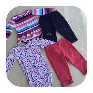 6/$15 12M Carter's 2 girls outfits